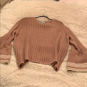 Beautiful trendy rose colored sweater